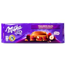 Шоколад Milka Raisin & Nuts (Фундук с изюмом) 300 г.