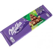 Молочный шоколад Milka Whole Nuts с цельным фундуком 270 г.