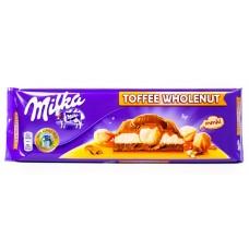 Шоколад Milka Toffee Wholenuts (Милка с цельным орехом) 300 г.