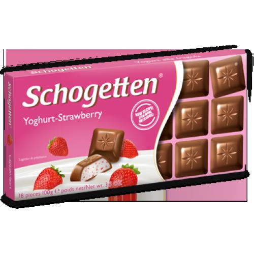 Шоколад Schogetten Yoghurt-Strawberry  (Шогеттон Клубничный йогурт)