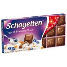 Шоколад Schogetten Yoghurt-Blueberry-Muesli (Шогеттен мюсли с черничным йогуртом) 100г