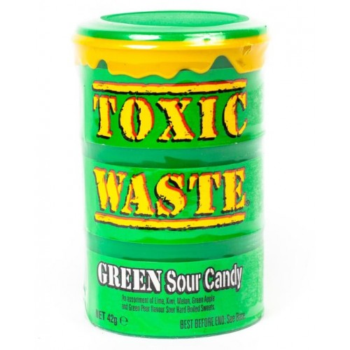 Конфеты Toxic Waste Green (Супер кислые леденцы Токсик Вейст)