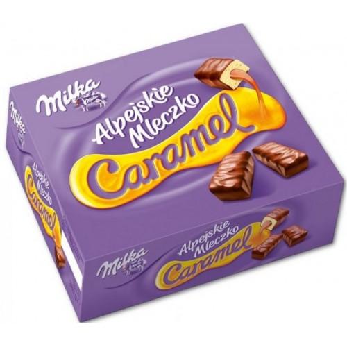 Шоколадные конфеты Milka Альпийское Молоко с карамелью