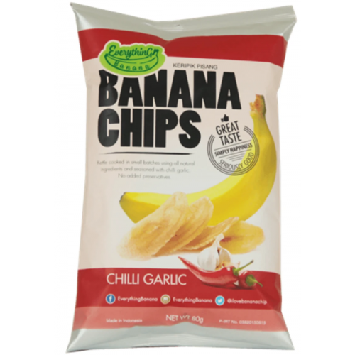 Банановые Чипсы Everything Banana Чили и Чеснок 80 гр