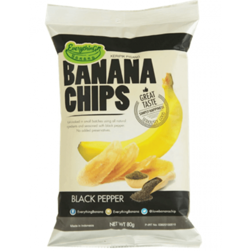 Банановые Чипсы Everything Banana с Черным перцем 80 гр
