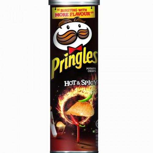 Чипсы Pringles Hot and Spicy (Острые и пряные)