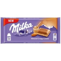 Milka Almond Crispy Creme, 90 g.