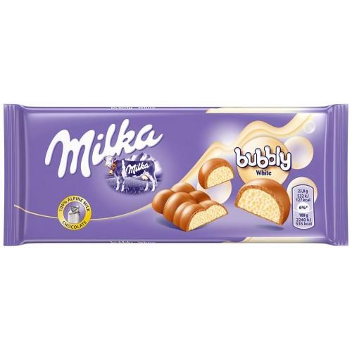 Шоколад Milka Bubbly White 95гр