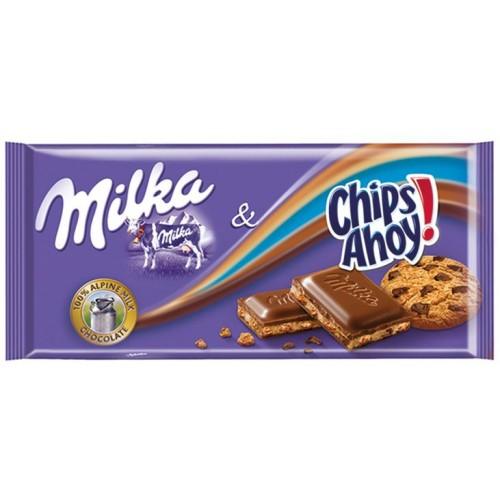 Шоколад Milka Milka Chips Ahoy 100гр