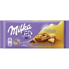 Молочный шоколад Milka Collage Caramel 100 г.