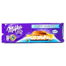 Шоколад Milka Crispy Yoghurt (Милка йогурт с хлопьями) 300 г.