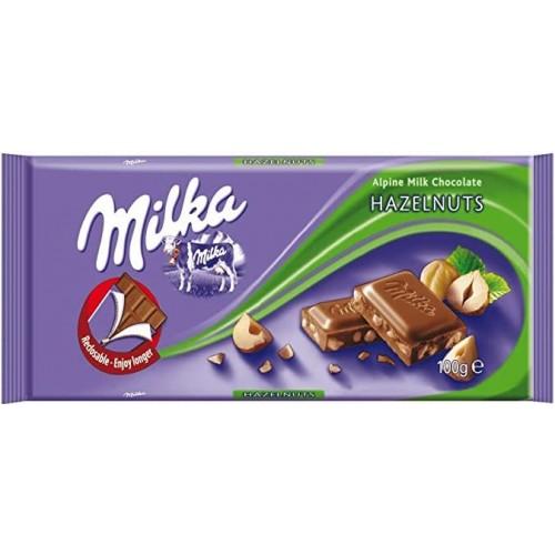Шоколад Milka Hazelnuts 100гр