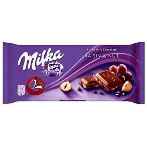 Молочный шоколад Milka Raisin & Nuts 100 г.