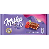 Milka Raspberry Cream, 100 g.