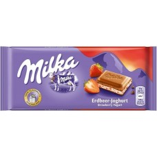 Молочный шоколад Milka Strawberry Yoghurt 100 г.