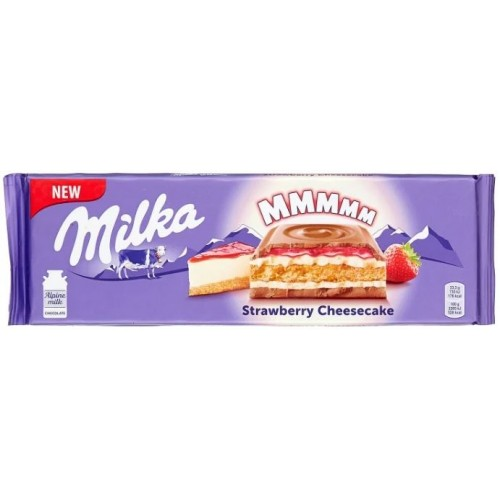 Шоколад Milka Strawberry Cheesecake 300гр