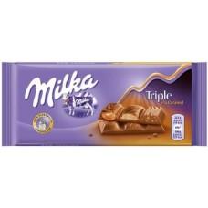 Milka Triple Caramel, 90 g.