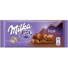 Молочный шоколад Milka Triple Choco 100 г.