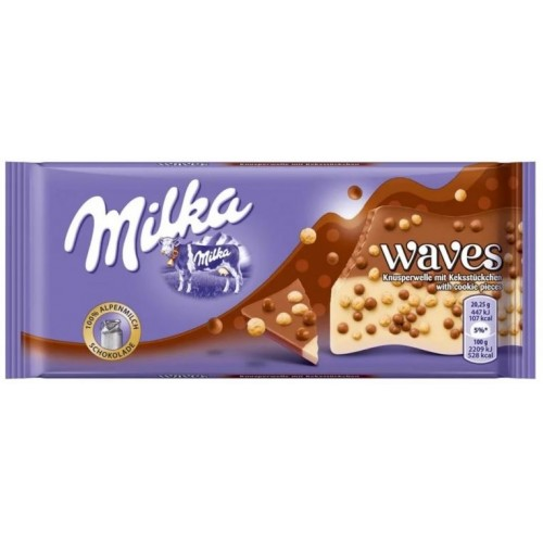 Milka Waves Caramel, 100 g.