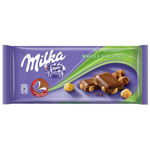 Шоколад Milka Whole Nuts 100гр