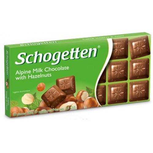 Шоколад Schogetten with hazelnuts (Шогеттон с лесным орехом)
