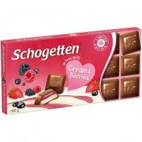 Молочный шоколад Schogetten с начинкой из молочного крема и лесных ягод 100 гр
