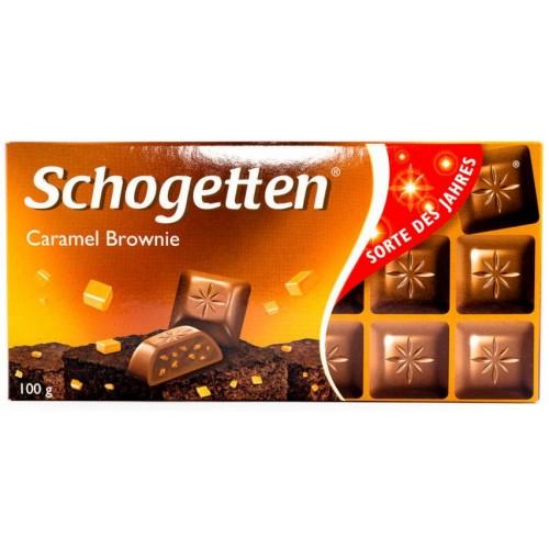Шоколад Schogetten Caramel Brownie 100g.