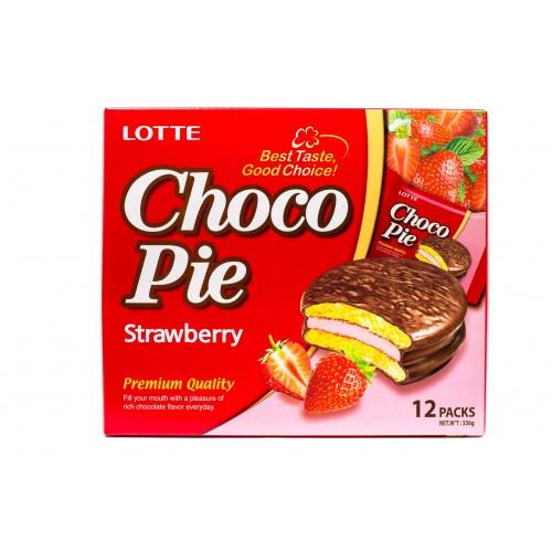 Печенье Choco Pie Strawberry ( Чокопай с клубникой )
