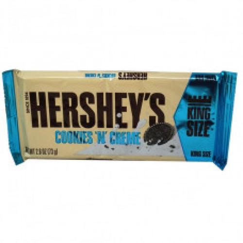 Hersheys белый шоколад с печеньем COOKIES N CREME KING SIZE 73 гр