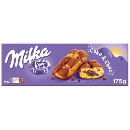 Бисквит Milka Cake & Choc, 175 g.