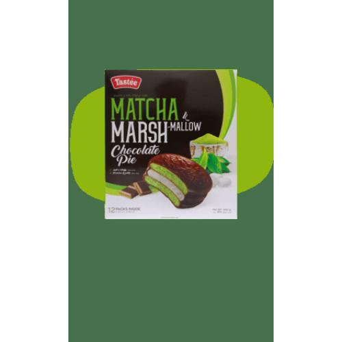 Печенье бисквитное Tastee Matcha Marshmallow Chocolate Pie со вкусом зеленого чая 300 гр