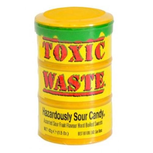 Конфеты Toxic Waste Yellow  (Супер кислые леденцы Токсик Вейст)