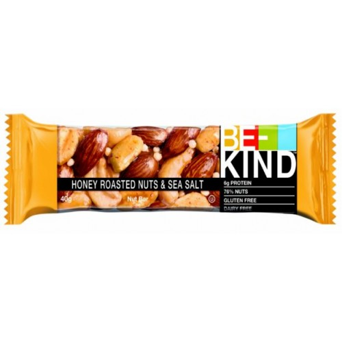 Ореховый батончик Be-Kind с мёдом и морской солью 40гр.
