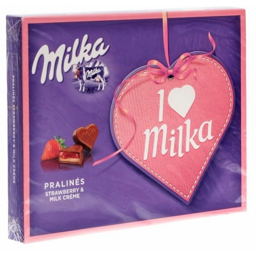 Шоколадные конфеты Milka I Love Milka Strawberry
