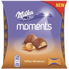Шоколадные конфеты Milka Moments Toffee Wholenut 169 гр