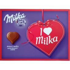 Шоколадные конфеты Milka I love с нугой и орехами