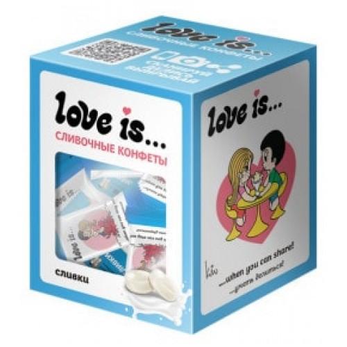 Жевательные конфеты Love Is Сливки, 105 g.