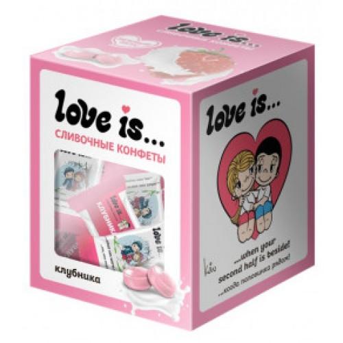 Жевательные конфеты Love Is Клубника, 105 g.
