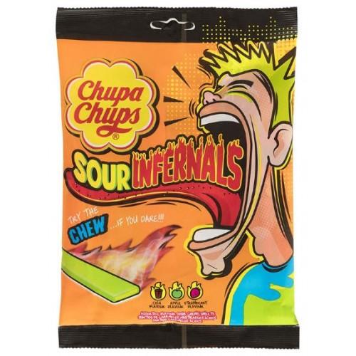 Жевательные конфеты Chupa Chups Sour Infernals