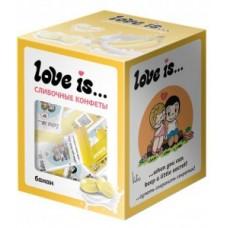 LOVE IS сливочные жевательные конфеты со вкусом банана