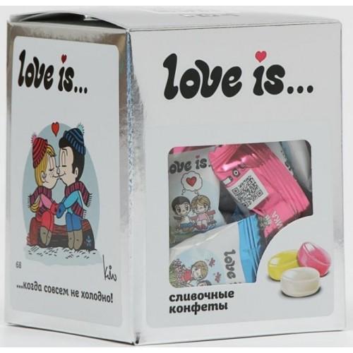 Жевательные конфеты Love Is Серебро, 105 g.
