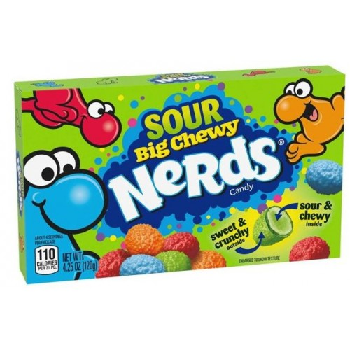 Драже Wonka Nerds Sour Big Chewy 120g.