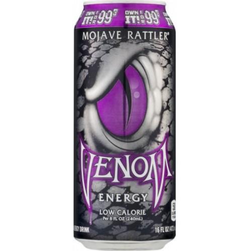 Газированный напиток тонизирующий Venom Black Mojave Ratter Low Calorie