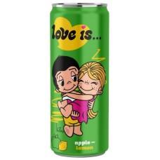 "Напиток ""Love is"" Яблоко и Лимон 330 мл."
