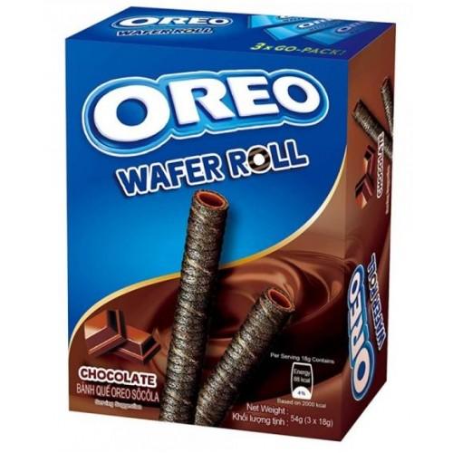 Вафельные трубочки с шоколадом WAFER ROLL OREO