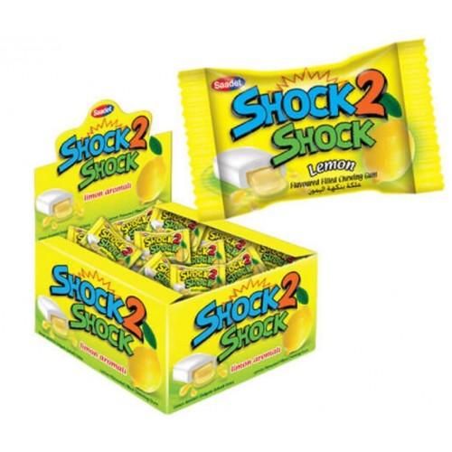 Жевательная резинка Shock 2 Shock Lemon 4g.